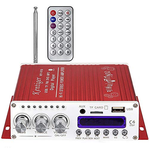 BOHENG Amplificador del Coche, Bluetooth Incorporado ninguÌ n Ruido, Amplificador pequeño Digital de Bluetooth 12V, Jugador...
