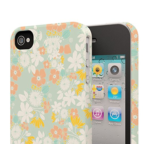 Koveru Back Cover Case for Apple iPhone 4/4S - Flower Abstract