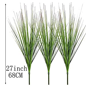 """27"""" Artificial Plants Onion Grass Greenery Faux Fake Shrubs Plant Flowers Wheat Grass for House Home Indoor Outdoor Office Room Gardening Indoor Décor 2"""