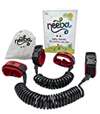 Neeba Safety Child Anti Lost Wrist Link | Unique 3 Way Opening System | Comfortable, Portable and Adjustable on Both Sides | 2 Pack (2.5m & 1.5m cords)