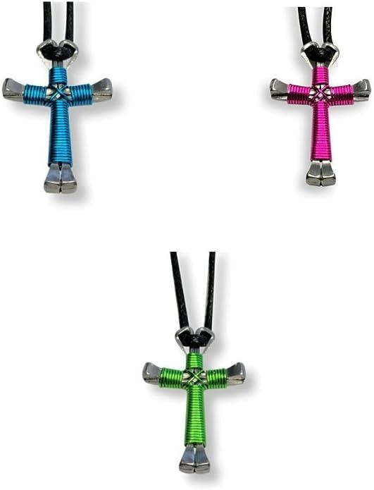 Burgundy Color 1 Cross Necklace Cross 3.0 Horseshoe Nail Disciples Cross