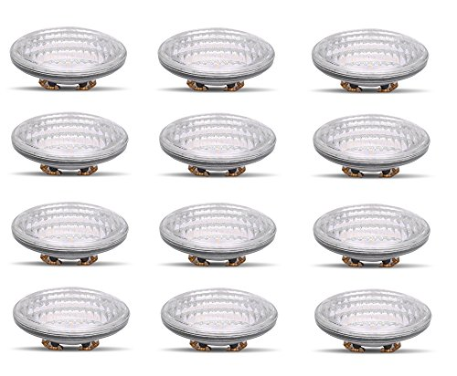 PAR36 LED 8W Light Bulb Outdoor Garden Landscape Lighting Low Voltage 12V AC DC AR111 G53 Underwater Industrial Waterproof IP65 Flood Lamp 2700K Warm White 12 Volt Swimming Pool Lights Value 12 Pack