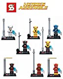 8 Piece Building Block Super Heroes the Avengers Age of Ultron Flash Ray Velocity ABS Plastic Without Original Boxes