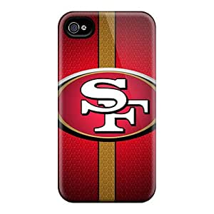 Iphone 4/4s DPz1716tMuD Support Personal Customs Lifelike San Francisco 49ers Pattern Excellent Cell-phone Hard Covers -VIVIENRowland