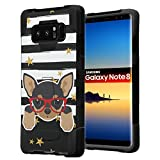 chihuahua cell phone accessories - Galaxy Note 8 Case, Capsule-Case Hybrid Fusion Dual Layer Shockproof Combat Kickstand Case (Black) for Samsung Galaxy Note8 SM-N950 - (Chihuahua)