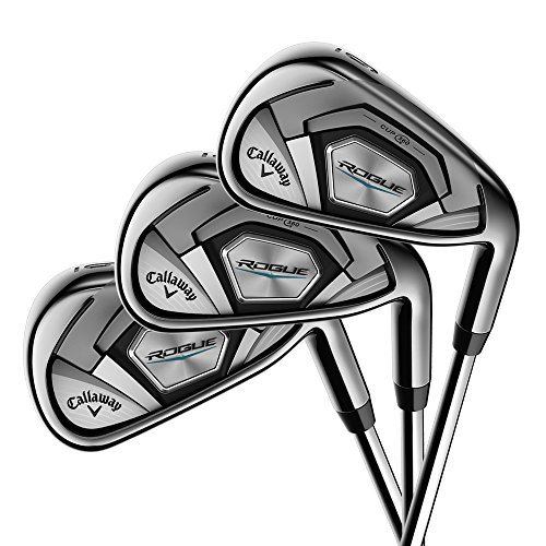 Callaway Rogue Iron Sets, Left Handed, 5-PW,SW, Graphite, Light