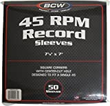 BCW (50) Brand Record White Paper Inner Sleeves, Model: 1-PRS45-SC-WH, Electronics & Accessories Store