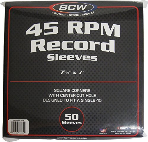 BCW (50) Brand Record White Paper Inner Sleeves, Model: 1-PRS45-SC-WH, Electronics & Accessories Store by Gadgets World