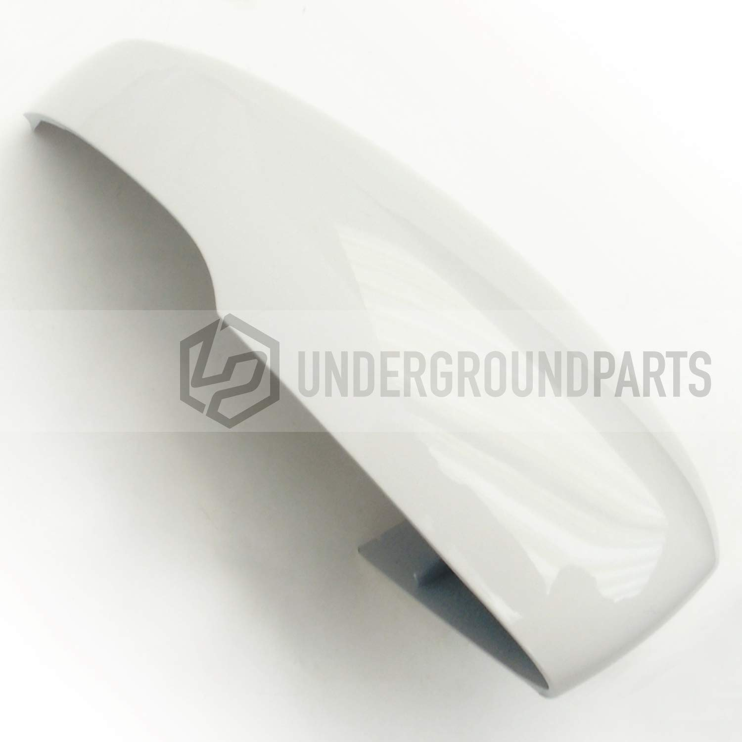 Underground Parts - Candy White Door Wing Mirror Cover Casing Cap - Right Drivers Side