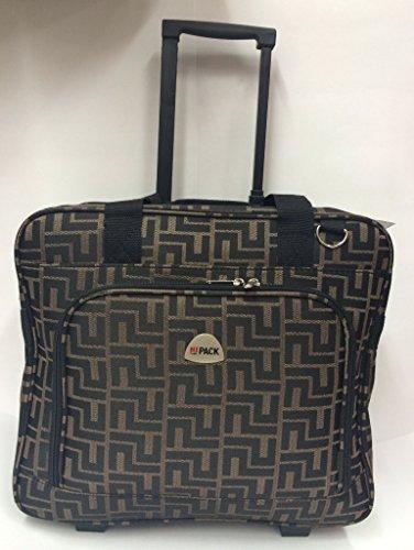 16'' computer / laptop bag rolling shoulder travel case carryon wheel