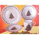 Christmas Tree Holiday Dinnerware Set (16 pcs)