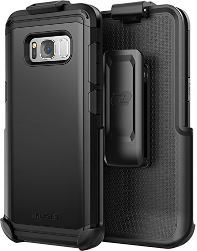 Galaxy S8 Plus Belt Clip Case - Rugged Tough Protective Cover with Kickstand Holster - Smooth Black (Scorpio R5 Series for Samsung Galaxy S8+)