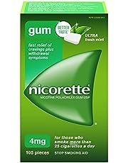 Nicorette Gum, Ultra Fresh Mint, 4mg, 105 Count