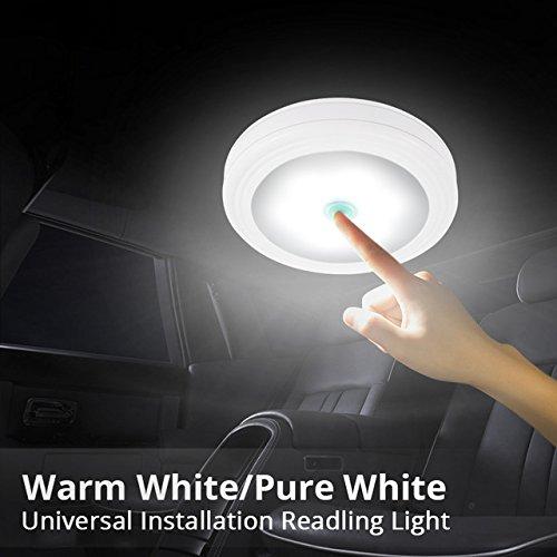 powlabポータブルミニ0.3 W UFO形状ホワイトLED読書ライトの寝室Rest Roomクローゼットキャビネット   B07DPN5RKW