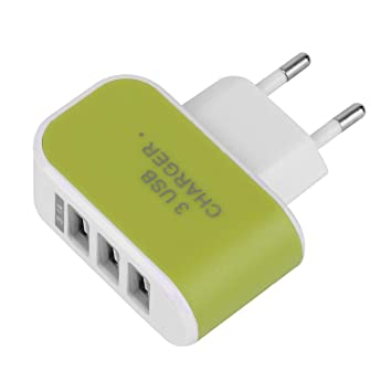 Lorenlli Triple USB 3 Puertos Muro Viaje en casa Adaptador ...