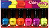 Kleancolor NPC593 Candy Cast, Neon Nail Lacquer Mini Collection (Set of 6 pieces)