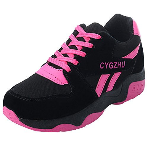 Sport Course Fitness Gym Suédé Rose 40 Outdoor Chaussure Epais Semelle Running wealsex Basket Femme 35 zwqSXX
