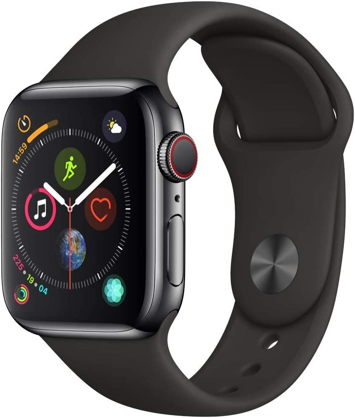 Apple Watch Series 4 (GPS + Cellular, 40mm) - Space Black Stainless Steel Case with Black Sport Band
