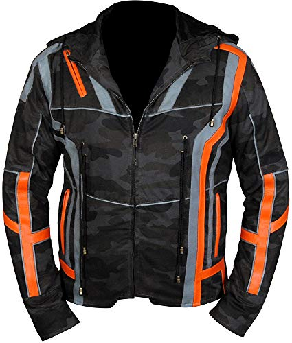 Infinity War Avengers Tony Stark Iron Man Camouflage Jacket with Hood (M)