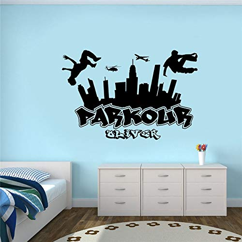 Wall Stickers Art DIY Removable Mural Room Decor Mural Vinyl Free Running Jumping Urban Style Skate Graffiti Art Lion King Decorations for Teen for Kids Boys Bedroom