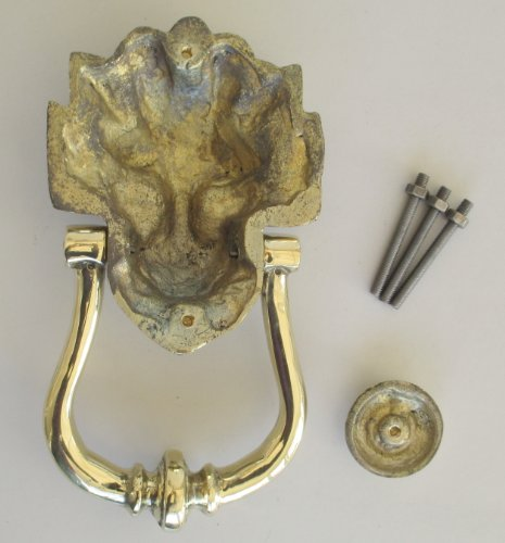 Solid brass lion 39 s head door knocker large number 10 for 10 downing street lion authentic foundry door knocker