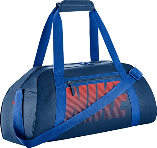 - Nike Gym Club Women's Training Duffel Bag (Blue/Orange)