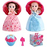 Vndaxau 2pcs Cupcake Surprise Scented Princess Doll,Magic Toys for 3 Year Old Girls