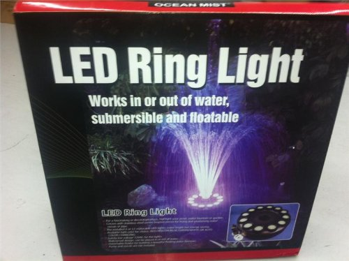 240 White Super Bright LED Floating Fountain & Ring Light by Mico