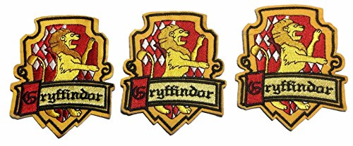 Harry Potter Gryffindor Crest Embroidered Iron On Patch