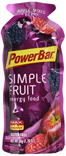 PowerBar Gluten Free Simply Fruit Energy Food, Apple Mixed Berry, 12 Count
