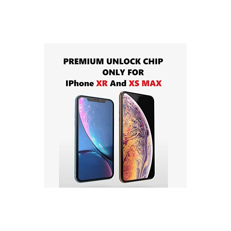 【SLICK2BUY】 Instant Unlock CHIP, Compatible iPhone Xs MAX, Sprint, VERIZON,  ATT, TMOBILE, Metro PCS, XFINITY, Any GSM SIM Card, Any Country