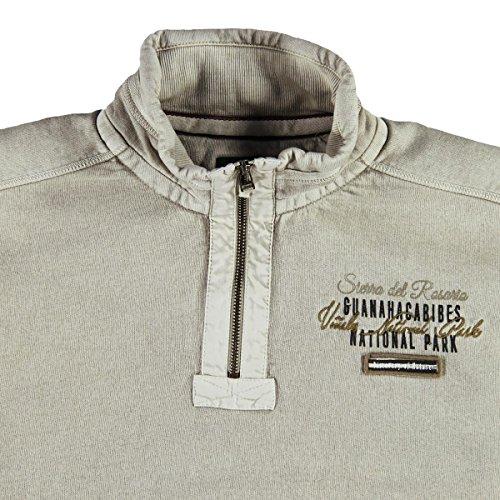 engbers Herren Sweatshirt Stehbund, 23072, Beige