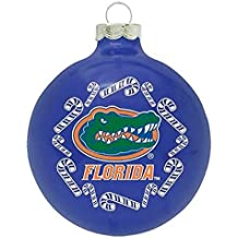 Boelter NCAA Candy Cane Traditional Glass Ball Christmas Ornament- 2 5/8