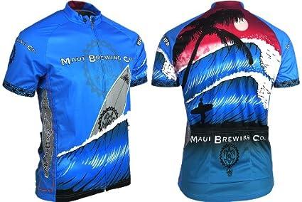 Amazon.com   Retro Men s Maui Brewing Company Cycling Jersey (Small ... 01e77002e