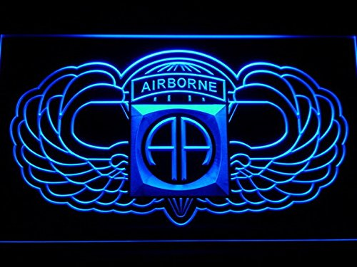 82nd Airborne Wings Army LED Neon Light Sign Man Cave - Wings Neon