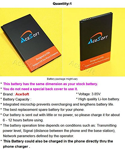 AceSoft 2950mAh Extra Standard Rechargeable Li-Ion Battery Special Desktop Wall USB/AC Charger Bracket for LG K20 Plus TP260 Android phone