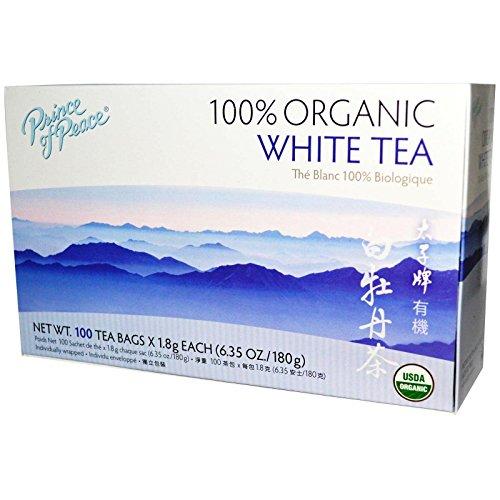 Prince of Peace Organic White Tea 100 Count, (China White Tea)