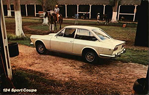 124 Sport Coupe, Fiat Cars Original Vintage Postcard