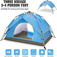 BATTOP 4 Person Family Camping Tent, 3 Usages Double...