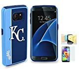Samsung [Galaxy S7] Licensed collectiable MLB Limited Edition Case [S7 Only] Momiji [Screen Guard] Protector, Cleaning Cloth [Galaxy S7] (Kansas City Royals)