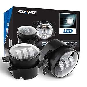 "4"" Led Fog Lights for Jeep Wrangler JK Led Fog Lamps Bulb Auto Len Projector Headlight Driving Offroad Lamp for Jeep Wrangler Dodge Chrysler Front Bumper Lights"