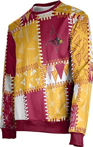 ProSphere St. John Fisher College Ugly Holiday Men's Sweater - Quilt FFB2