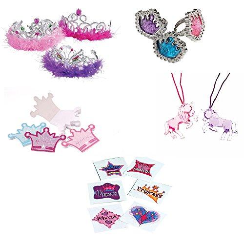 U.S. Toy Princess Tiara Gem Rings Toy Party