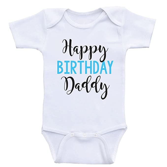 Heart Co Designs Birthday Baby Onesie Happy Daddy Dads Clothes 3mo