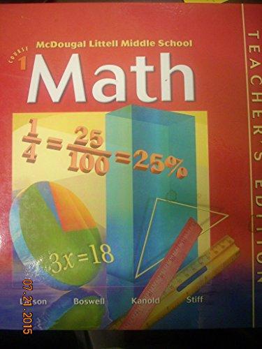 Math Course 1, Teacher's Edition
