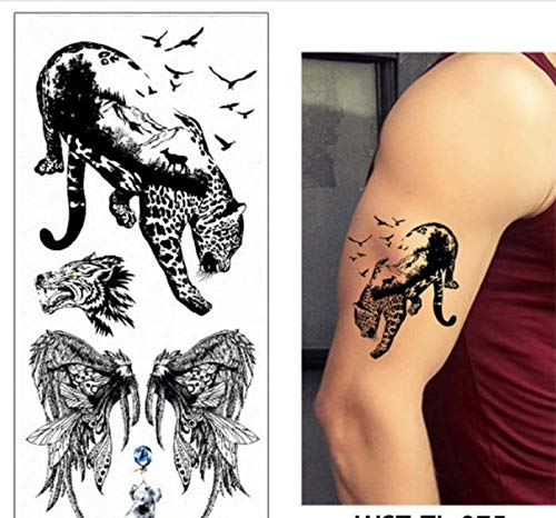 UPUPUPUP Tatuaje Temporal Cuerpo Pecho Cintura Arte Tatuaje ...
