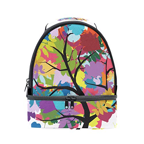 almuerzo correa para para árbol Bolsa hombro FOLPPLY con de el ajustable diseño el arcoíris térmica vwx1RREqI
