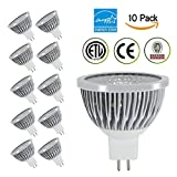 TSCDY MR16 COB,5W(35W Equivalent) Dimmable LED Bulbs,2700K (Warm White),80 Degree Beam Angle, CRI 80+,450 LM,ETL-Listed and ENERGY STAR Qualified,Pack of 10