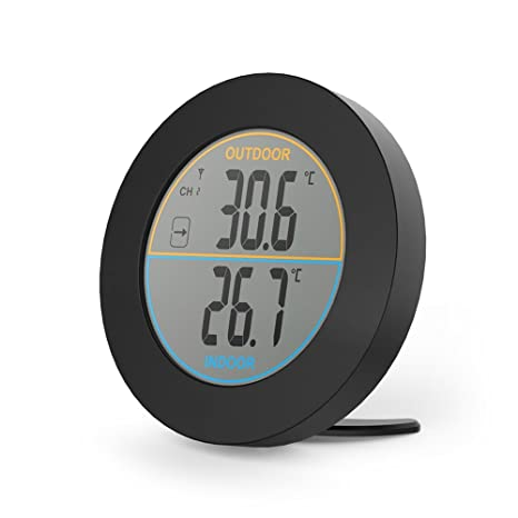 Amazon.com: Round Thermometer - Digital Thermometer Indoor ...