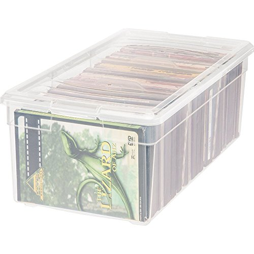 IRIS Divided Storage Box, Clear